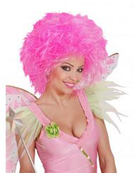 Parrucca da donna rosa fluo