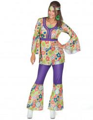 Costume hippie con pantalone da donna