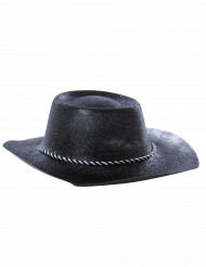 Cappello cowgirl con paillettes nero adulto