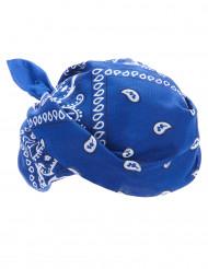 Bandana da cowboy di colore blu