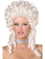 Parrucca barocca bianca da donna