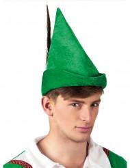 Cappello da ragazzo dei boschi verde adutlo