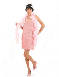 Costume rosa in stile charleston da donna