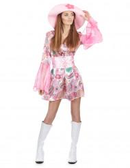 Costume anni '70 rosa da donna