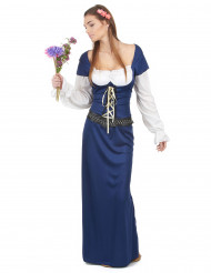 Costume blu e bianco bavarese da donna