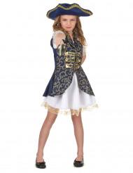 Costume piratessa blu scuro per bambina