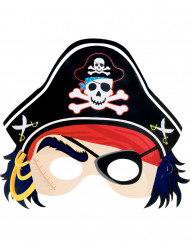 Maschera di cartone da pirata per bambino