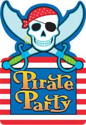 8 inviti per festa Pirate party