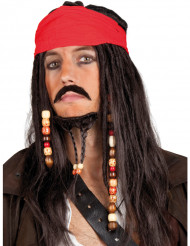 Parrucca con bandana da pirata uomo