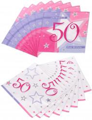 16 tovaglioli di carta con età