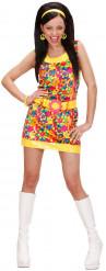 Costume corto a fiori hippie da donna
