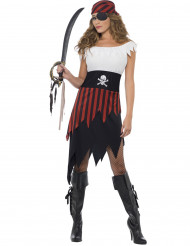 Costume piratessa asimmetrico donna