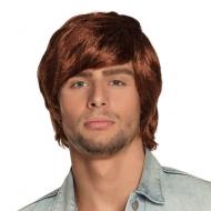Parrucca anni '70 rossa da uomo