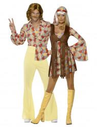 Costumi per coppia di Hippy anni '70