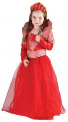 Costume rosso da regina per bambina