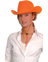 Cappello da cowboy color arancione