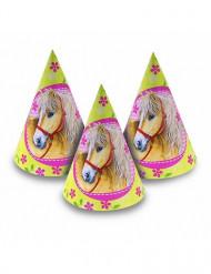 6 cappelli conici con cavalli