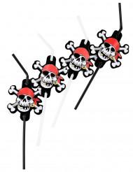Cannucce nere flessibili tema pirata