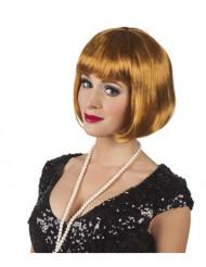 Parrucca da cabaret color miele
