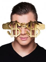 Occhiali oro dollari