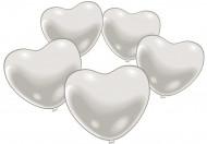 10 palloncini bianchi a cuore