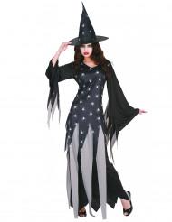 Costume per donna da strega di Halloween