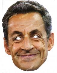 Maschera di cartone Nicolas Sarkozy