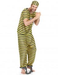 Costume uomo carcerato giallo