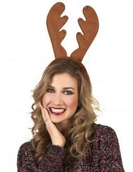Cerchietto da renna natalizio