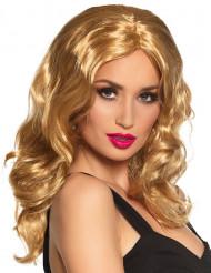 Parrucca di lunghi capelli biondi