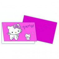 6 biglietti Charmmy Kittyper invito