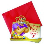 6 biglietti invito dei Pirati Disney