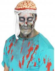 Cappello cervello con fasciatura per Halloween adulto