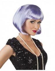 Parrucca corta lilla da donna
