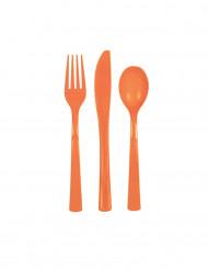Posate di plastica color arancione
