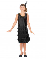 Costume stile charleston nero bambina