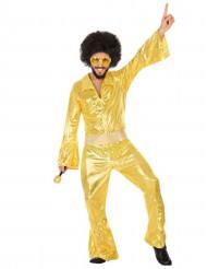 Costume uomo da disco dorato