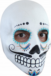 Maschera teschio bianca in lattice per adulti