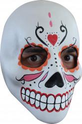 Maschera scheletro bianca adulto