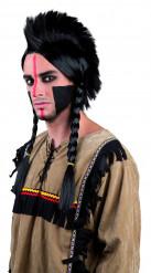 Parrucca da indiano con trecce per adulto