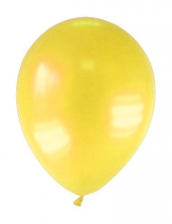 12 palloncini metallizzati gialli