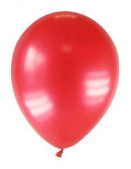 12 palloncini da 28 cm rossi metallizzati