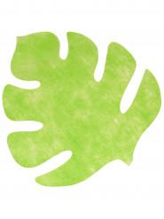 Set di 4 Tovagliette sottopiatto a forma di foglia di colore verde anice