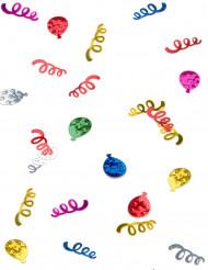 Coriandoli da tavola a forma di palloni e di stelle filanti
