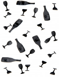 Coriandoli da tavolo di colore nero 10 g