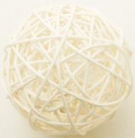 2 sfere di vimini avorio diametro 6 cm