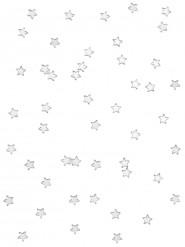 48 stelle color argento effetto specchio