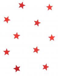 10 mini specchietti a forma di stella rossa
