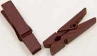 24 Mini mollette di legno bordeaux