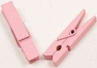 25 mollette da bucato in legno rosa